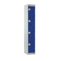 LOCKER 1800H x 300W x 300D, 4-DOOR, BLUE