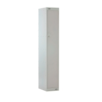 LOCKER 1800H x 300W x 450D, 1 DOOR, grey