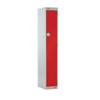 LOCKER 1800H x 300W x 450D, 1 DOOR, red