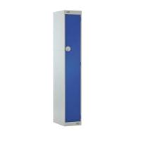 LOCKER 1800H x 300W x 450D, 1 DOOR, blue