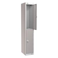 LOCKER 1800H x 300W x 450D, 2-DOOR, grey
