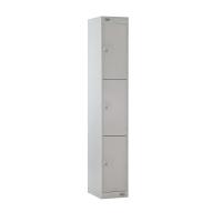 LOCKER 1800H x 300W x 450D, 3-DOOR, grey