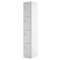 LOCKER 1800H x 300W x 450D, 4-DOOR, grey