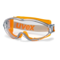 UVEX ULTRASONIC SAFETY GOGGLES CLEAR ORANGE FRAME 9302-245