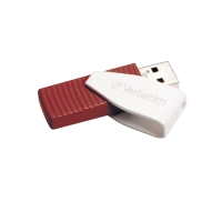 VERBATIM STORE N GO SWIVEL USB FLASH DRIVE RED 16GB