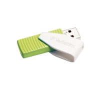 VERBATIM STORE N GO SWIVEL USB FLASH GREEN 32GB