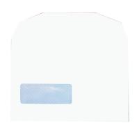 LYRECO SELF SEAL WINDOW ENVELOPE 90G C6 WHITE BOX OF 1000