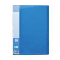 ELBA SNAP BLUE A4 20 POCKET DISPLAY BOOK