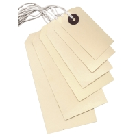 STRING TAGS 70 X 50MM WITH 9INCH WHITE STRING - BOX OF 1000