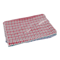 ASSORTED CHECKED TEA TOWELS - PACK OF 10