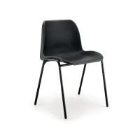 POLYPROPYLENE EASY-CLEAN STACKING CHAIR - BLACK