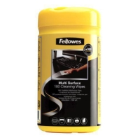 FELLOWES ANTIBACTERIAL CLEANING WIPES - TUB OF 100