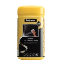 FELLOWES SCREEN CLEANING WIPES - TUB OF 100