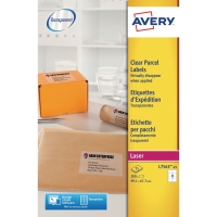 AVERY L7565-25 QUICKPEEL CLEAR LASER ADDRESSING LABELS 99.1 X 67.7MM - BOX OF 25