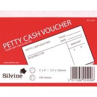 PETTY CASH VOUCHER PADS 127 X 102MM - PACK OF 10 PADS (10 X 100 SHEETS)