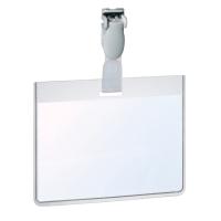 DURABLE VISITORS/SECURITY BADGES 60 X 90MM - PLASTIC CLIP - BOX OF 25