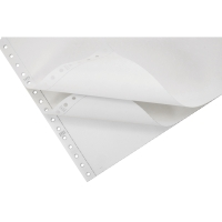 LYRECO 280 X 241MM 3-PART NCR PLAIN PERF LISTING PAPER 56/56/57GSM - 700 SHEETS