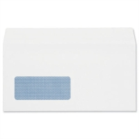 LYRECO BUDGET WHITE DL SELF SEAL WINDOW ENVELOPES 80GSM - BOX OF 1000