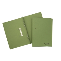 LYRECO GREEN FOOLSCAP SPRING FILES 300GSM 32MM CAPACITY - BOX OF 25