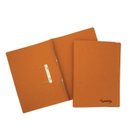 LYRECO ORANGE FOOLSCAP SPRING FILES 300GSM 32MM CAPACITY - BOX OF 25