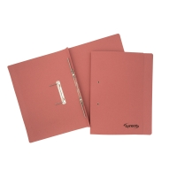 LYRECO PINK FOOLSCAP SPRING FILES 300GSM 32MM CAPACITY - BOX OF 25