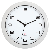 ALBA HORNEWBC EASY TIME ROUND WALL CLOCK WHITE