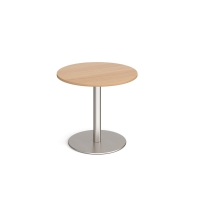 WOODEN BEECH TOP COFFEE TABLE 600MM X 600MM