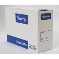 LYRECO WHITE FOOLSCAP TRANSFER FILE H254 X W127 X D363MM - BOX OF 10