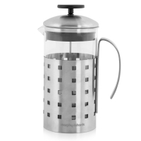 MORPHY RICHARDS EQUIP 8 CUP CAFETIERE STAINLESS STEEL 1 LITRE
