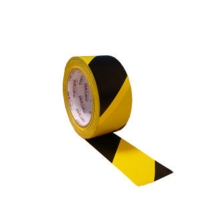 FLOOR MARKING TAPE HAZARD - BLACK/YELLOW