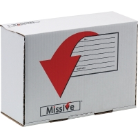 MISSIVE VALUE SMALL PARCEL POSTAL BOX  SHOE/ANKLE BOOT BOX SIZE 350X250X160MM -