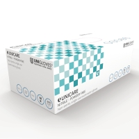 UNICARE UCNI1204 NITRILE POWDERFREE DISPOSABLE GLOVE LARGE INDIGO (BOX OF 200)