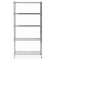 ALBA CHROME STEEL SHELVING 5 SHELVES MEDIUM