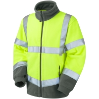 LEO FO1-Y HIGH VISIBILITY FLEECE YELLOW LARGE