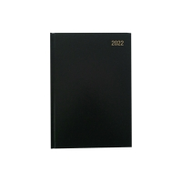 LYRECO A5 APPOINTMENT DIARY BLACK - PAGE A DAY