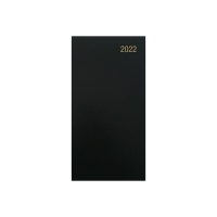 LYRECO LANDSCAPE SLIM DIARY BLACK - WEEK TO VIEW