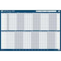 SASCO UNMOUNTED STAFF YEAR PLANNER - 915 X 610MM
