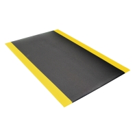 COBA ORTHOMAT SAFETY MAT BLACK/YELLOW 0.6M X 0.9M