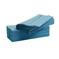 LYRECO BLUE 1 PLY C-FOLD HAND TOWELS - PACK OF 2880