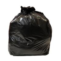 BLACK 18 X 29 X 38 INCH 90 LITRE LIGHT DUTY WASTE SACK - PACK OF 200