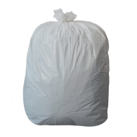 WHITE 18 X 29 X 38 INCH 70 LITRE MEDIUM DUTY WASTE SACK - PACK OF 200