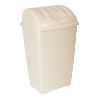 CREAM 40 LITRE LARGE LIFT TOP BIN