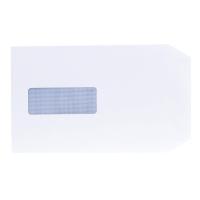 LYRECO ENV 229X162 80G WH WDW S/S BOX OF 500