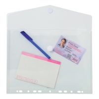 EXACOMPTA PUNCHED ENVELOPES A4 CLEAR PACK OF 5