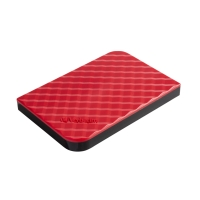 VERBATIM 53203 2.5  PORTABLE HDD HARD DISC DRIVE 1TB RED