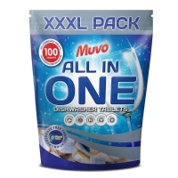 MUVO 7 IN 1 DISHWASHER TABLETS - PACK OF 100