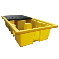 ECOSPILL P3202613 DOUBLE IBC SPILL PALLET 2560X1350X510MM