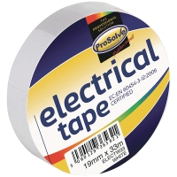 ROLL ELECTRICAL INSULATIONTAPE 19MM 33MTR WHITE