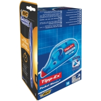 TIPP-EX POCKET MOUSE - BOX OF 10 + 8 FREE BIC CRISTAL LIKE ME BLUE BALLPEN