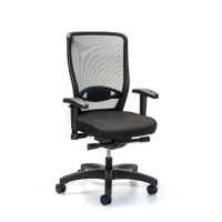 INTERSTUHL YOUNICO 3476 BLACK SYNCHRONE CHAIR